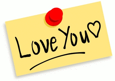 "A note with ""Love you"" written on it"